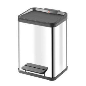 Hailo Öko Duo RVS Pedaalemmer 18 Liter (2x9 L)