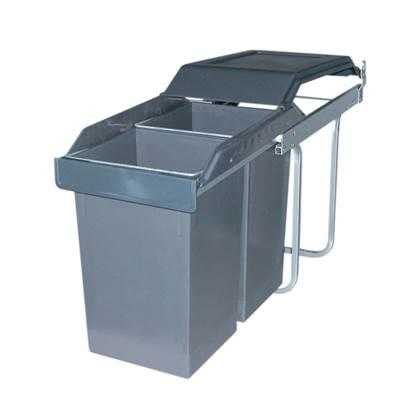Hailo Tandem Uittrek Inbouwafvalemmer 30 Liter