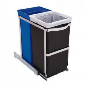 Simplehuman Pull Out Inbouwafvalemmer 35 Liter (20+15 Liter)