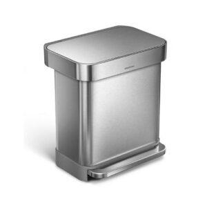 simplehuman rectangular 30 zilver
