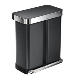 simplehuman rectangular liner pocket pedaalemmer 58 liter