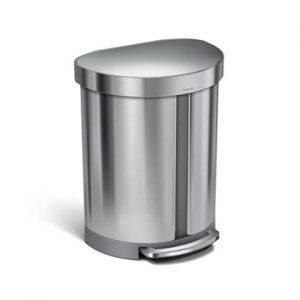 Simplehuman Semi-Round Pedaalemmer 55 Liter (22+33 L)