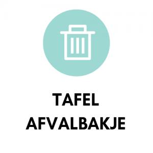 Tafel / aanrecht afvalbakje