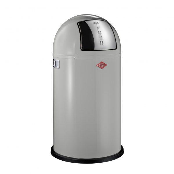 Wesco Pushboy afvalemmer 50 liter grijs