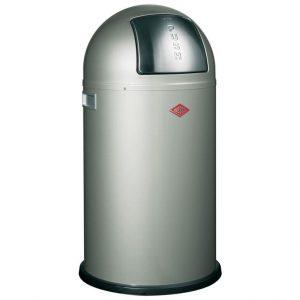 Wesco Pushboy afvalemmer 50 liter nieuw zilver