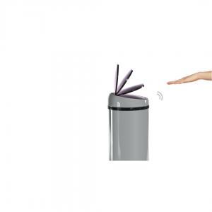 Sense touch-free afvalemmer 50 liter grijs