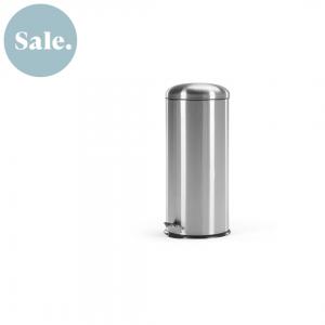 Joss pedaalemmer 30 liter zilver