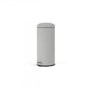 Joss pedaalemmer 30 liter zilvergrijs