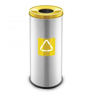 Easybin Eco flex 50 Liter ronde afvalemmer Geel