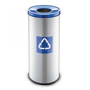 Easybin Eco flex 50 Liter ronde afvalemmer Blauw