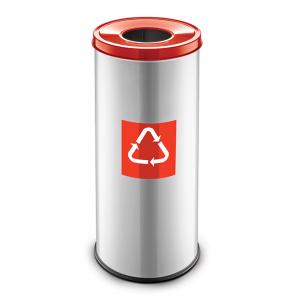 Easybin Eco flex 50 Liter ronde afvalemmer Rood