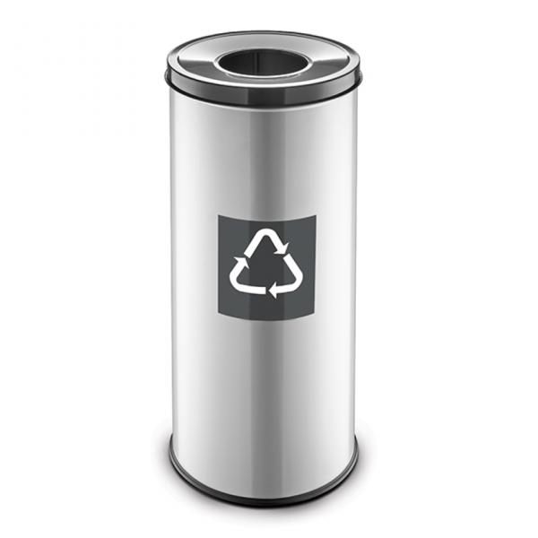 Easybin Eco flex 50 Liter ronde afvalemmer Grijs