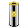 Easybin Eco flex 50 Liter ronde gloss afvalemmer Geel