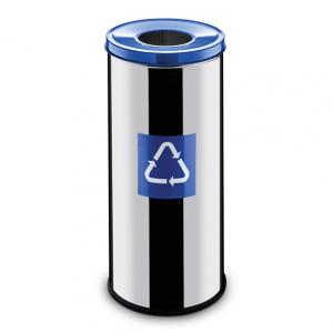 Easybin Eco flex 50 Liter ronde gloss afvalemmer Blauw