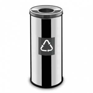 Easybin Eco flex 50 Liter ronde gloss afvalemmer Grijs