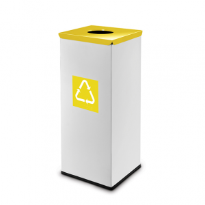 Easybin Eco flex 50 Liter vierkante afvalemmer Geel