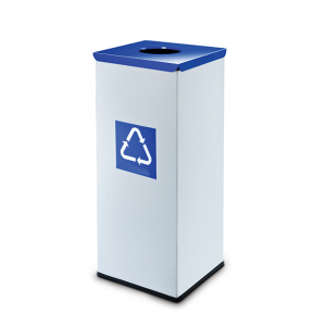 Easybin Eco flex 50 Liter vierkante afvalemmer Blauw