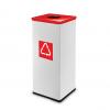 Easybin Eco flex 50 Liter vierkante afvalemmer Rood