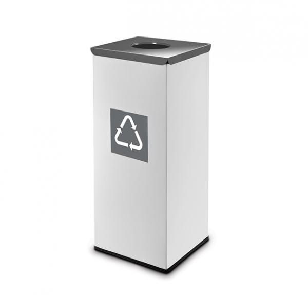 Easybin Eco flex 50 Liter vierkante afvalemmer Grijs