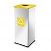 Easybin Eco flex 50 Liter vierkante afvalemmer Gloss Geel