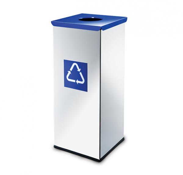 Easybin Eco flex 50 Liter vierkante afvalemmer Gloss Blauw