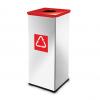 Easybin Eco flex 50 Liter vierkante afvalemmer Gloss Rood