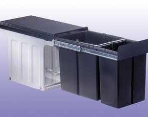 Wesco Profiline Bio-Double 30 DT laag afvalemmer