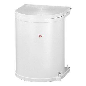 Wesco inbouw prullenbak rond 15 Liter Wit