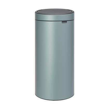 Brabantia Touch Bin 30 Liter Wit.Brabantia Touch Bin New Afvalemmer 30 Liter Groen