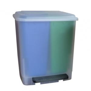 Easybin Duo 20 liter pedaal afvalemmer Transparant