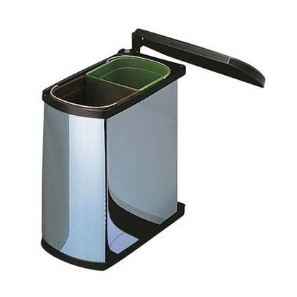 Hailo Duo AutoMatic Inbouwafvalemmer 16 Liter