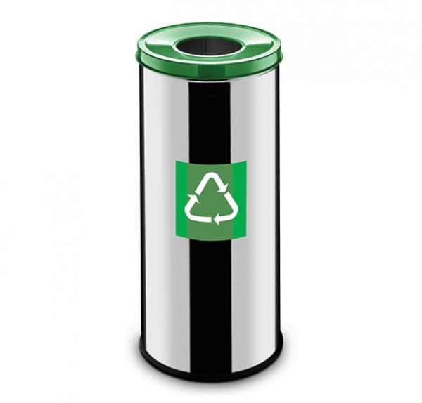 Easybin Eco flex 50 Liter ronde gloss afvalemmer Groen