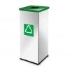 Easybin Eco flex 50 Liter vierkante afvalemmer Gloss Groen