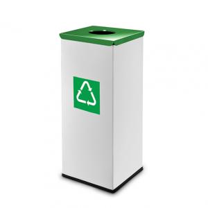Easybin Eco flex 50 Liter vierkante afvalemmer Groen