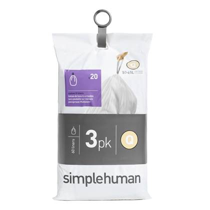 Simplehuman Code Q Pocket Liners Afvalzakken 50-65 L