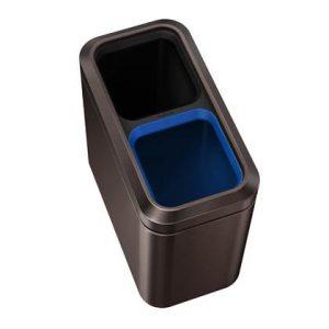 Simplehuman Slim Open Recycler Afvalemmer 20 Liter (2x10 Liter)