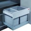Afvalemmer Hailo Tandem-s-uittrek 30 liter met deurmeenemer