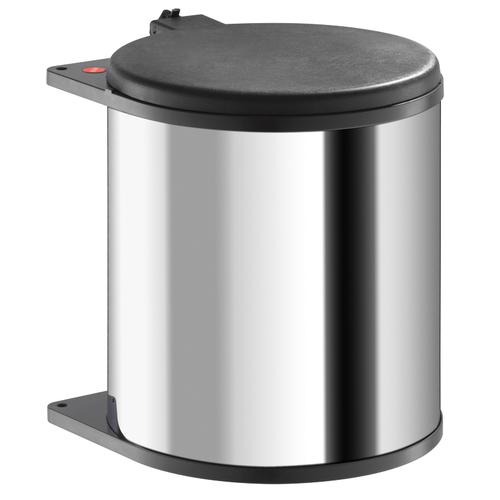 Afvalemmer Hailo 15 liter 3715-10 rvs/donkerbruin
