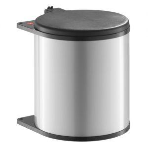 Afvalemmer Hailo 15 liter 3715-21 zilvergrijs/zwart