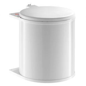 Afvalemmer Hailo 15 liter 3715-90 wit