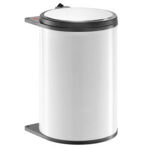 Afvalemmer Hailo 20 liter 3720-00 wit/donkerbruin