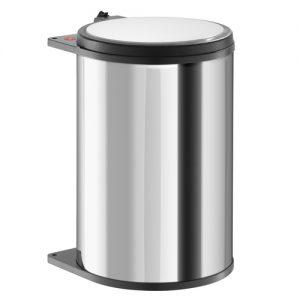 Afvalemmer Hailo 20 liter 3720-10 rvs/zwart