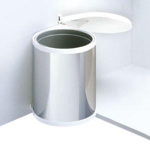Afvalemmer Hailo Mono 12 liter 3512-01 rvs/wit