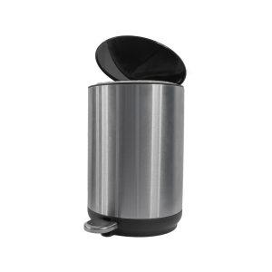 Afvalemmer badkamer Steeldesign Vito 5 liter pedaalemmer rvs