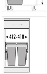 Afvalemmer Hailo Cargo Soft 3610-48 - 28liter