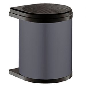 Afvalemmer Hailo Mono 15 liter 3515-07 - donkergrijs/zwart