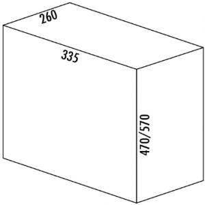Afvalemmer Wesco Bio Single 30DT 26 liter