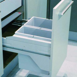 Afvalemmer Hailo Euro-Cargo Soft Short - Front - 34 liter