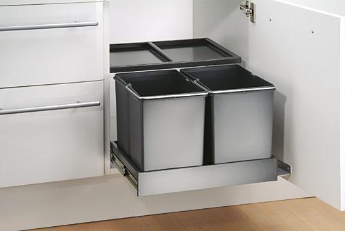 Inbouw Afvalemmer Wesco Double Shorty Plus 30 Liter Afvalbakkenwinkel