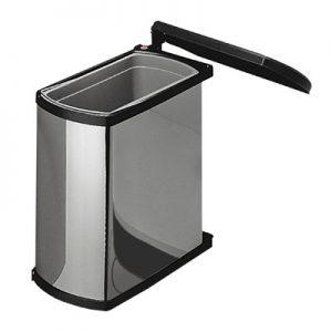 Afvalemmer Hailo Uno-Automatic 18 liter 3418-10 rvs/zwart